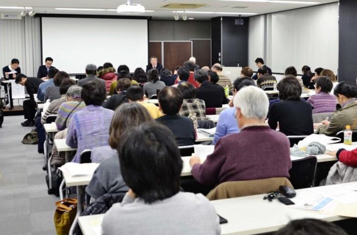 ひきこもりの長期高年齢化をテーマに意見を交わしたシンポジウム=名古屋市内