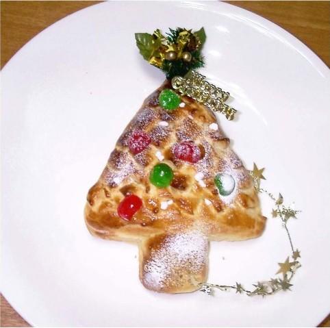~クリスマスイブの準備~  クリスマスツリーのパン