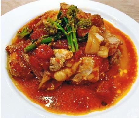 鶏肉とトマトの柔らか煮