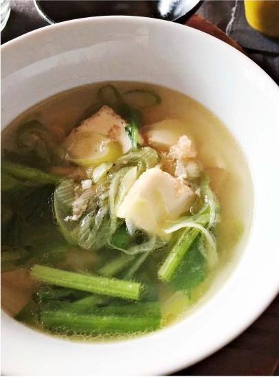 ザーサイと厚揚げのスープ