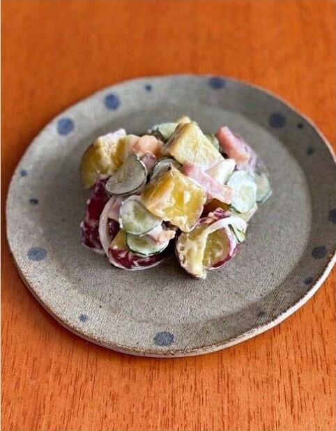 幼稚園給食で人気!サツマイモのサラダ