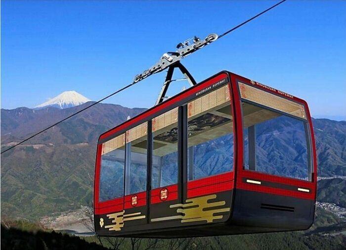 身延山ロープウェイで運行される新型ゴンドラのイメージ(身延登山鉄道提供)