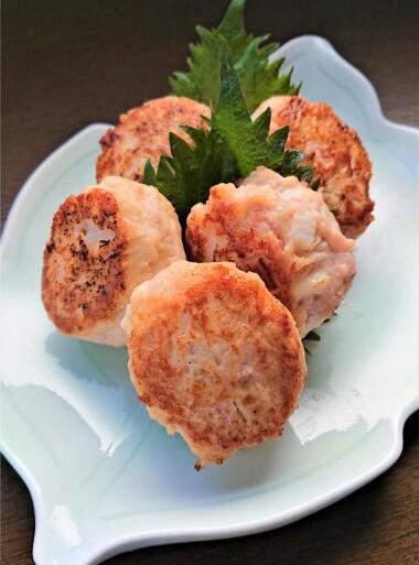鶏ひき肉と紅しょうがの塩つくね