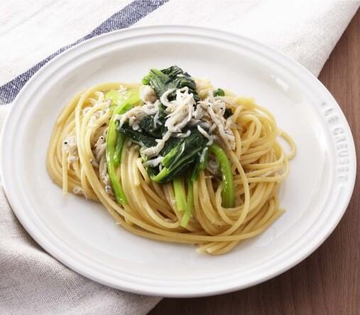 しらすと小松菜のペペロンチーノ