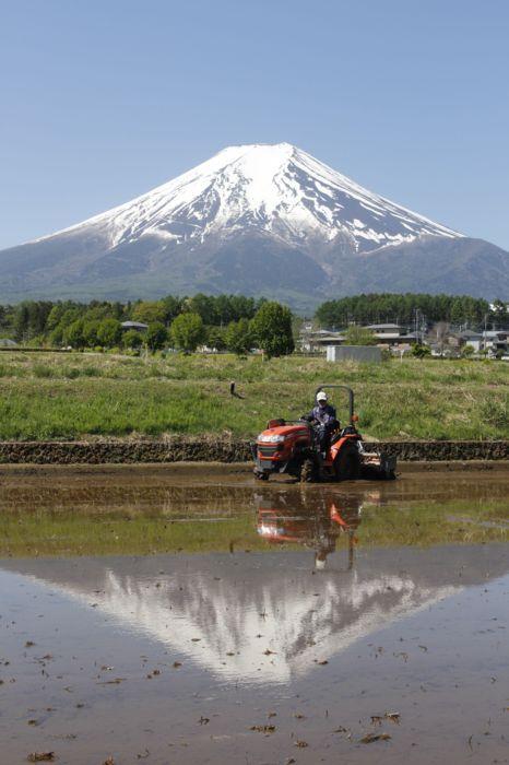 雪解けが進む富士山。だが今年の夏は異例の登山禁止となる