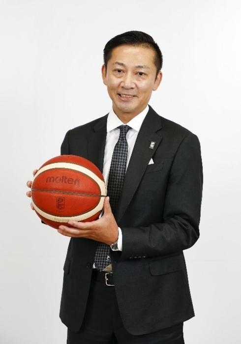 バスケットボール男子Bリーグの新チェアマンに就任する島田慎二(しまだ・しんじ)さん