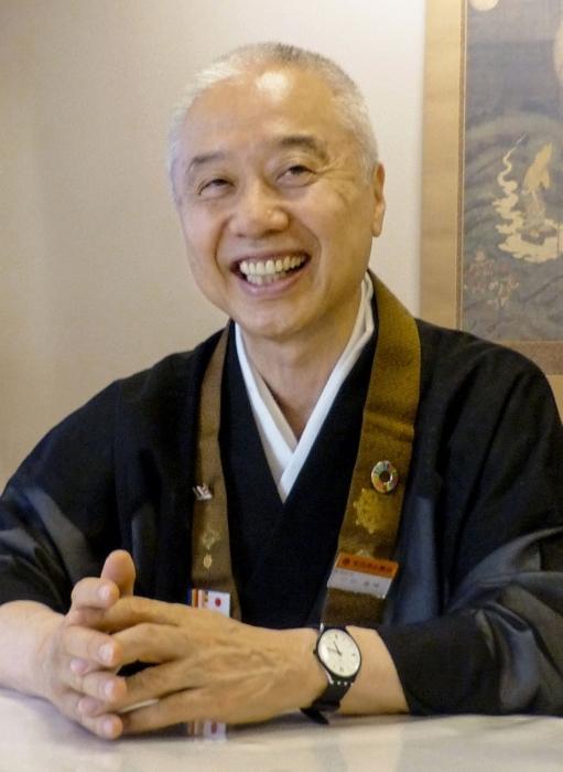 全日本仏教会理事長に就任した戸松義晴(とまつ・よしはる)さん