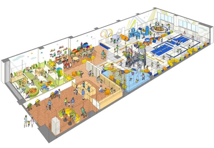 子ども屋内運動遊び場のイメージ図(甲府市提供)