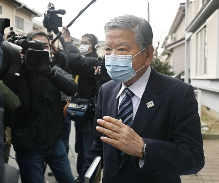 東京五輪・パラリンピック組織委員会の会長に急浮上したが、一転して辞退した川淵三郎氏=12日、千葉市