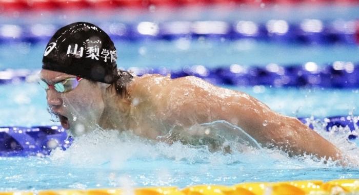 【男子200メートルバタフライ決勝】力泳する田中大貴=東京アクアティクスセンター