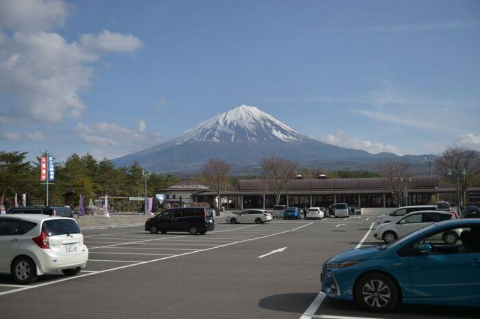 〈2〉きょうの富士山(4月12日)
